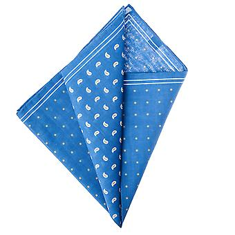 Pellens & Loïck men's handkerchief Hanky cotton drops & dot blue