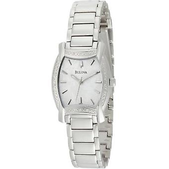 Bulova Women's 96R135 Diamond Case White Dial Bracelet Watch