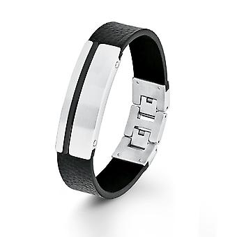 s.Oliver jewel mens bracelet stainless steel leather 2012462