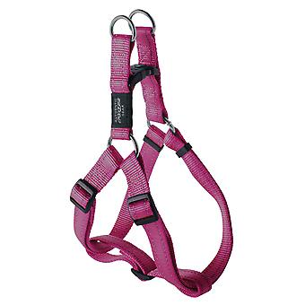 Rogz Fanbelt Reflective Nylon Step-in Harness Pink 20mm