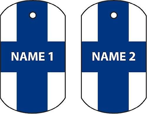 Personalised Finland Dog Tag Car Air Freshener