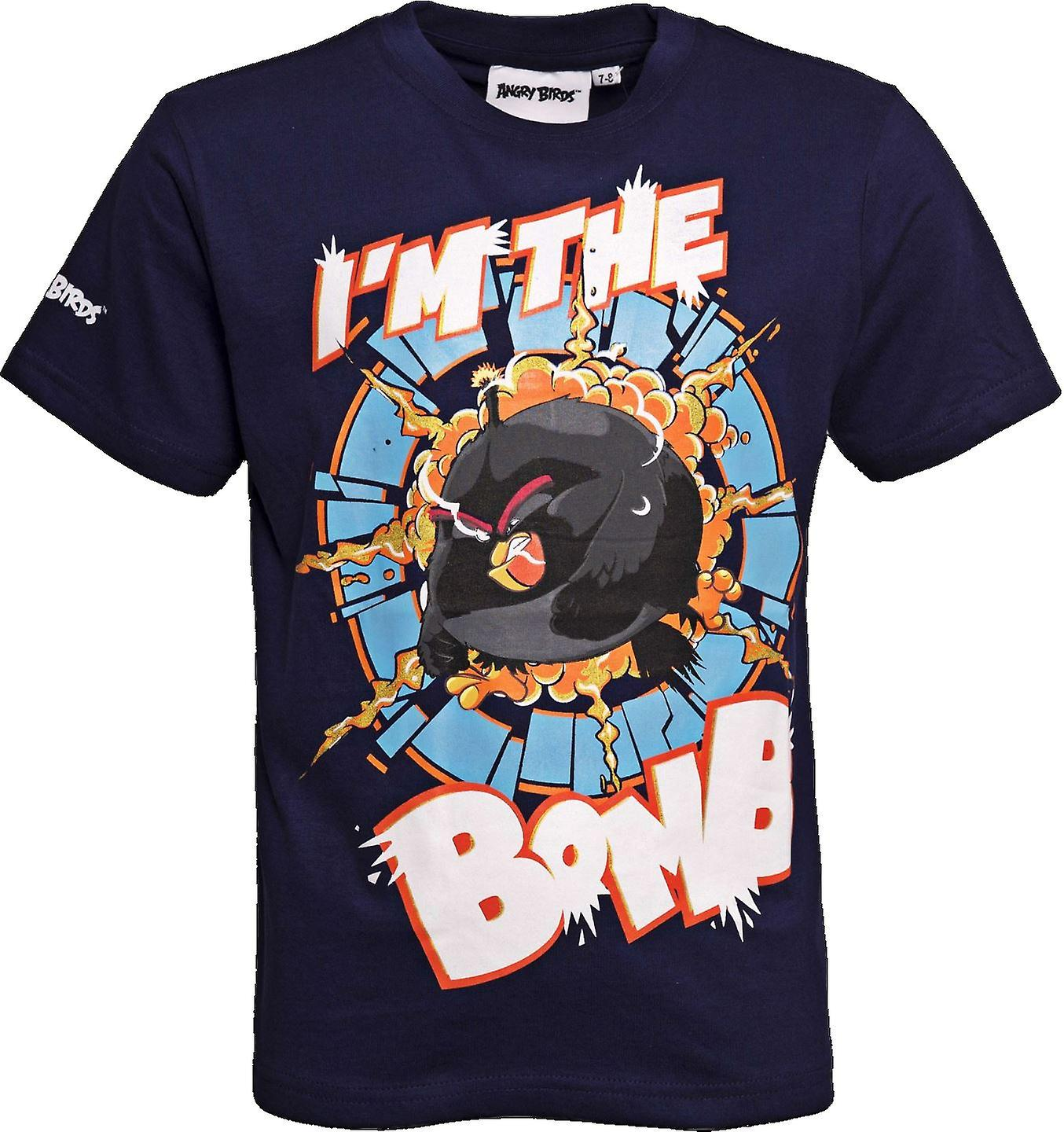 I'M THE BOMB | ANGRY BIRDS MOVIE | Official Licensed | Angry Bird T-Shirt | Age 5-6