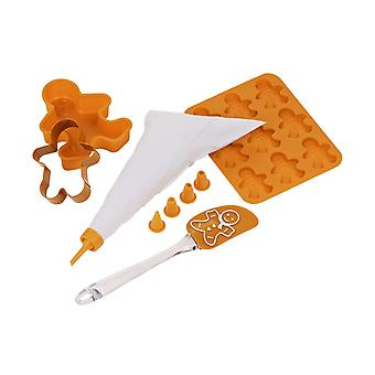 5pc Children's Baking Set Gingerbread Man Kids Baking Tools