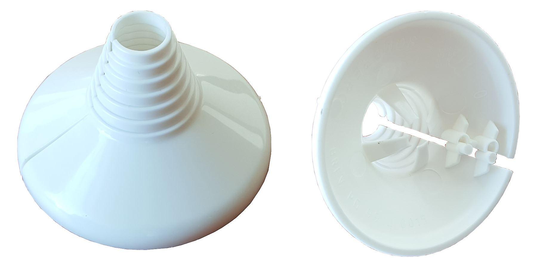 2x White Collar Water Pipe Plastic Cover Rose Rosette 10-22mm Universal Diameter