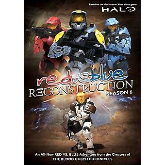 Importar de USA rojo vs azul-reconstrucción [DVD]