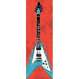 Guitare électrique A3 Poster Print par Enrique Rodriguez Jr.