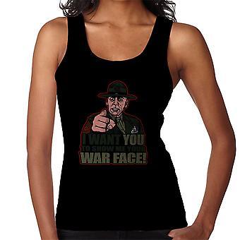 War Face Gunnery Sgt. Hartman Full Metal Jacket Women's Vest