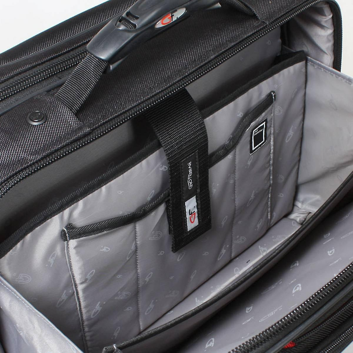 Gino Ferrari Brooklyn 16inch Wheeled Laptop On-Board Case - Black