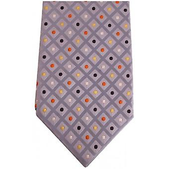 Knightsbridge Neckwear Kensington Diamond and Spot Silk Tie - Lilac