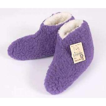 Bed shoes wool purple 44/45