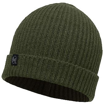 Buff Basic Knitted Beanie - Chive