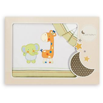 Interbaby Triptych Maxicuna Model Elephant and Giraffe Pistachio