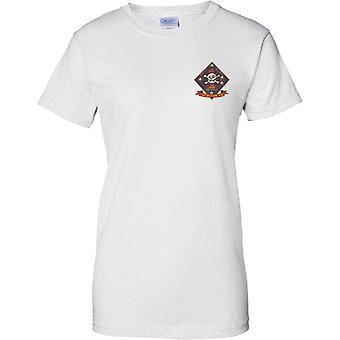 USMC 1ste Recon Insignia - Swift Silent Deadly - Amerikaanse mariniers - dames borst T-Shirt ontwerpen
