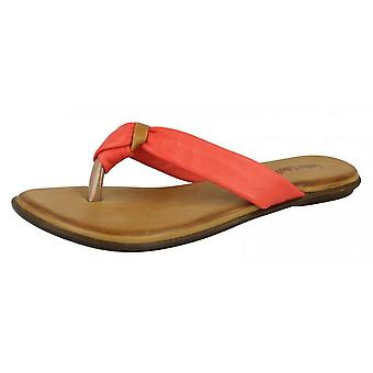 Leather Collection Womens/Ladies Knotted Toe Post Flip Flop