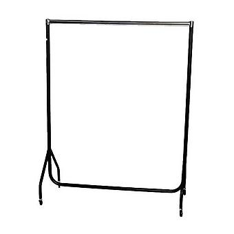 4ft Robust Chrome & Black Clothes Rail W 122  H 155  D 50cm