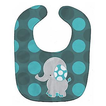 Carolines Treasures  BB6837BIB Polkadot Grey Elephant Baby Bib