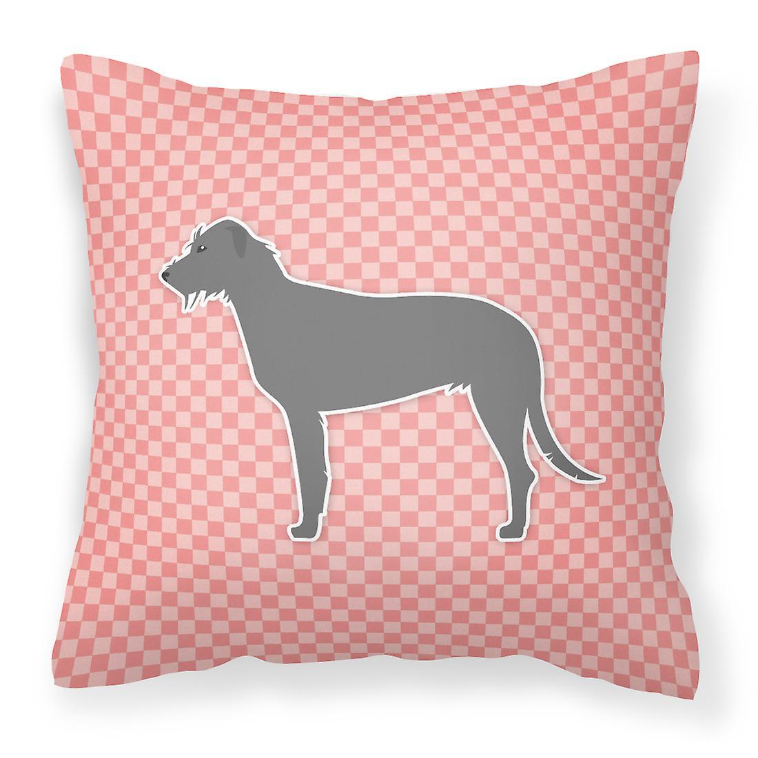 Wolfhound Damier Décoratif Irish Tissu Rose Oreiller PwOk8Nn0XZ