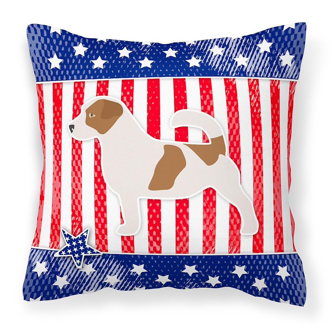 Terrier Jack Décoratif Usa Oreiller Patriotique Russell Tissu 0k8nwOP