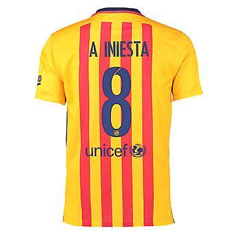 2015-16 Barcelona weg Shirt (Iniesta 8)