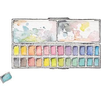 Stamping Bella Danielle's Rubber Stamps-Large Rectangular Half Pan Palette DD118