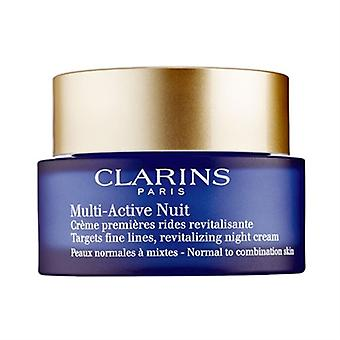 Clarins multi Active Nuit revitaliserende nat creme Normal - kombination hud 1,6 oz/50 ml