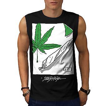 42 Ganja Joint Men BlackSleeveless T-shirt | Wellcoda