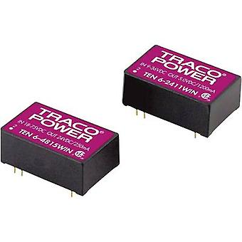 TracoPower TEN 6-4823WIN DC/DC converter (print) 48 Vdc 15 Vdc, -15 Vdc 200 mA 6 W No. of outputs: 2 x