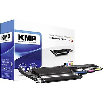 KMP Toner cartridge combo pack replaced Samsung CLT-P4072C, CLT-K4072S, CLT-C4072S, CLT-