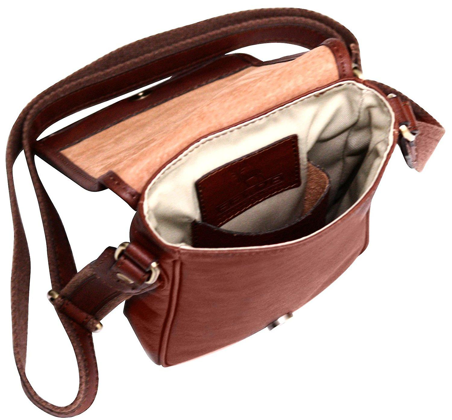 Genuine Leather Small Side Shoulder Bag Unisex Case Carry
