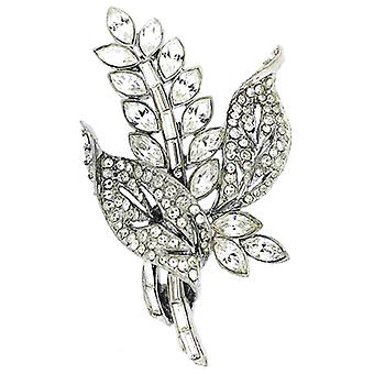 Brooches Store Silver Plated & Swarovski Crystal Flower Bouquet Brooch