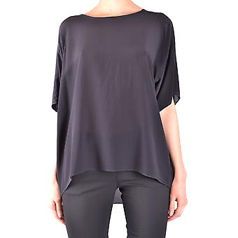 Jucca ladies MCBI466003O black silk T-Shirt