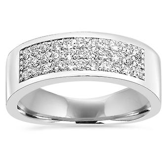 1/2CT Diamond Pave Ring 14K White Gold