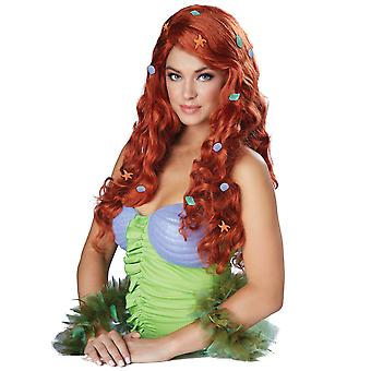 Akvatiske Fantasy Mermaid prinsesse Ariel Auburn historie bok uke kvinner kostyme parykk