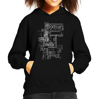 ZX Spectrum Computer Schematic Kid's Hooded Sweatshirt