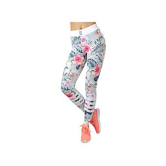 GymHero Leggins GREY-FLOWER Womens leggings