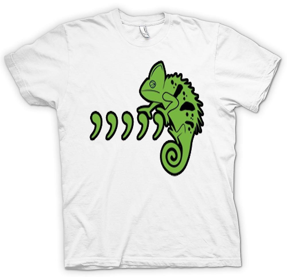 Womens T-shirt - Pet Iguana Lizard And Commas