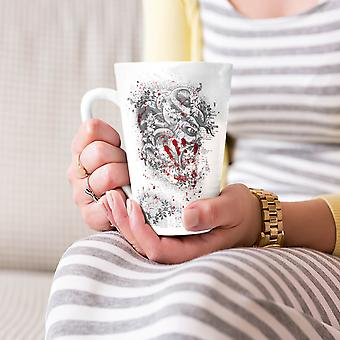 Devil Beast Blood Horror NEW White Tea Coffee Ceramic Latte Mug 17 oz | Wellcoda