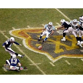 Adam Vinatieri - Super Bowl XXXVIII Game Winning Field Goal Photo Print