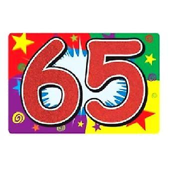65 glitzerbedeckten Zeichen