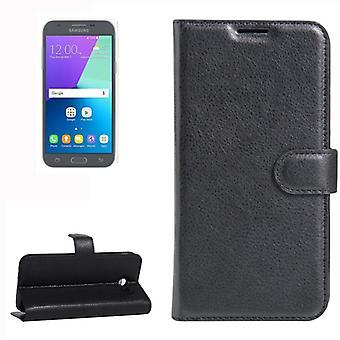 Bolsillo monedero negro de primera calidad para Samsung Galaxy J3 2017 / J330F protección manga bolsa funda nueva