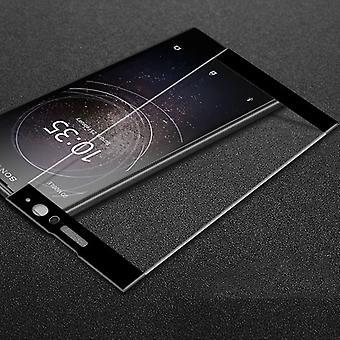 3D premium 0,3 mm H9 hårt glas svart film för Sony Xperia XA2 skydd täcka nya