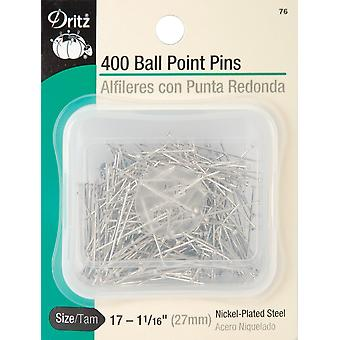 Dritz Ball Point Pins 400/Pkg-Size 17