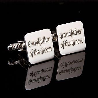 Grandfather of the Groom Laser Wedding Cufflinks