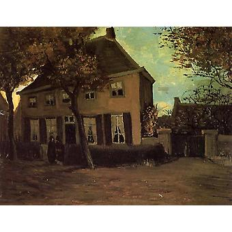 The Parsonage at Nuenen, Vincent Van Gogh, 33x43cm