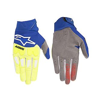 Alpinestars Yellow-Fluorescent-Blue 2018 Racefend MX Gloves
