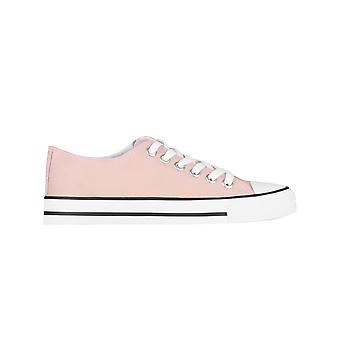 KRISP Frauen Plain Canvas Low Top Trainers Fashion Lace Up Sneaker Pumps Flatt-Schuhe 3-8