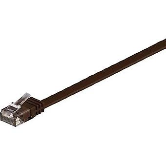 Goobay RJ45 Networks Cable CAT 6 U/UTP 0.5 m Dark brown highly flexible