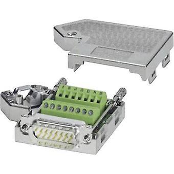 Phoenix Contact SUBCON 15/M-SH D-SUB plug 180 ° Number of pins: 15 Screws 1 pc(s)