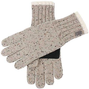 Dents Donegal Marl Knit Gloves - Natural