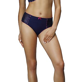 Nessa P1 Women's Zyta Navy Blue Solid Colour Knickers Panty Full Brief